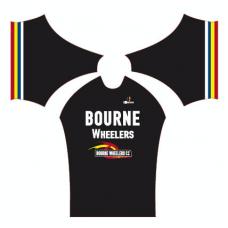 Bourne Wheelers Childrens Retro Black Summer Jersey Short Sleeve