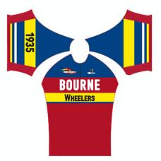 Bourne Wheelers Childrens Retro Summer Jersey Short Sleeve
