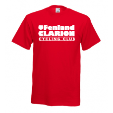 Fenland Clarion Children's T Shirt Red
