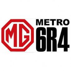 Metro 6R4 Logo Decals x2