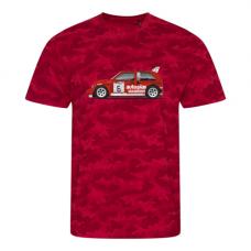 Red Camo Autoplas Metro 6R4 T Shirt