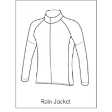 CES Sport Childrens Rain Jacket Long Sleeve